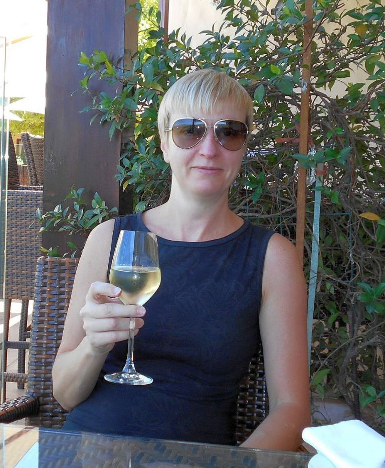 Asara with wine