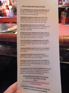 The Hob - Beer List