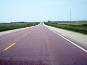 On the road to Sioux Falls - Pink Quartzite