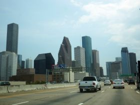 Driving into Houston