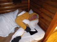 Sotrms River Rest Camp - Forest Hut - Brian is cold!