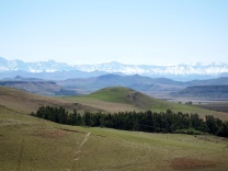 On the way to Drakensberg - Snow!