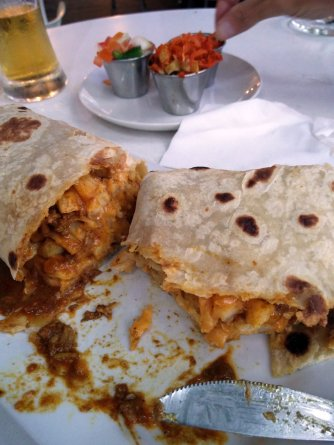 House of Curries - Lamb Curry, Chips & Cheese Roti