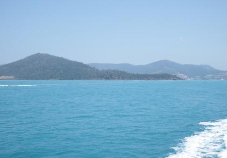 On the way to Whitsunday Island