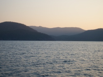 On the way back from Whitsunday Island