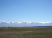 On the way to Mount Cook, NZ
