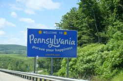 On the way to Harrisburg, Pennsylvania