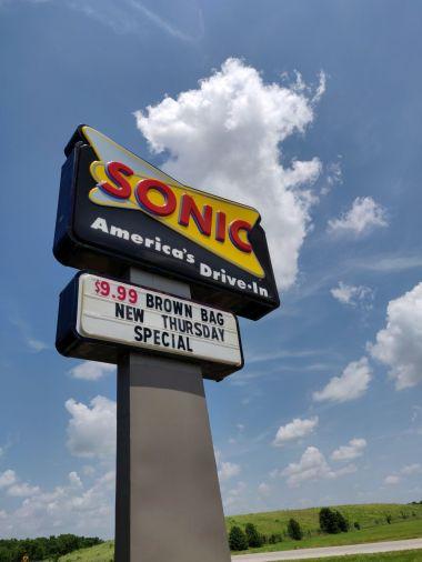 Sonic Oreo Blast on the way to Tulsa, Oklahoma