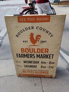 Farmer's Market - Boulder