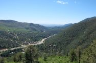 Leaving Pikes Peak, Colorado